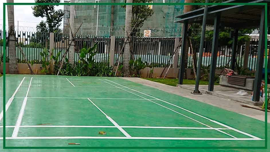 Thi Công Sơn Epoxy Sân Cầu Lông